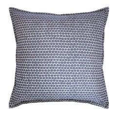 Cement Beads on Wheat Cotton Linen Pillow
