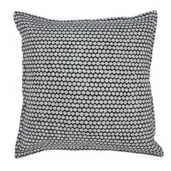Charcoal Checker on Wheat Cotton Linen Pillow