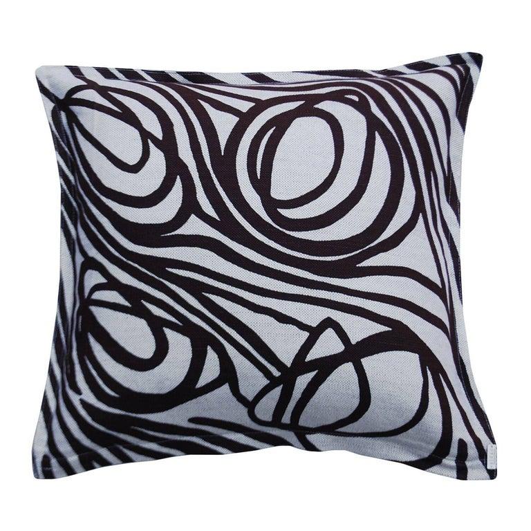 Concrete Ropes on Wheat Cotton Linen Pillow For Sale