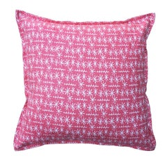 Dahlia Star Ticket on Oyster Cotton Linen Pillow