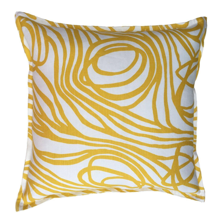 Lemon Ropes on Oyster Cotton Linen Pillow