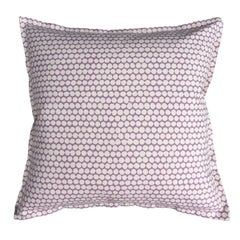 Lilac Checker on Cotton Canvas Pillow
