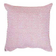 Rose Checker on Oyster Cotton Linen Pillow