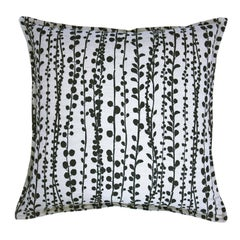 Slate Pearl on Wheat Cotton Linen Pillow