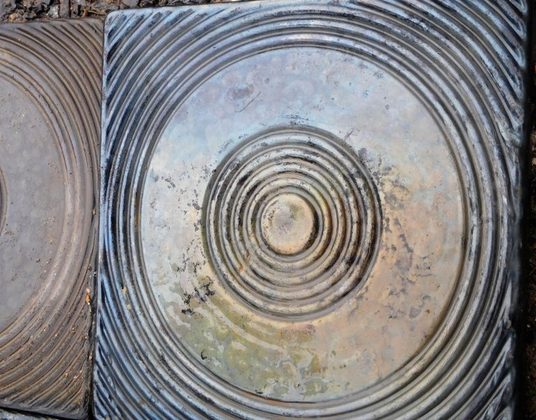 Belgian 200 Big Céramic Tiles from the 1960s For Sale