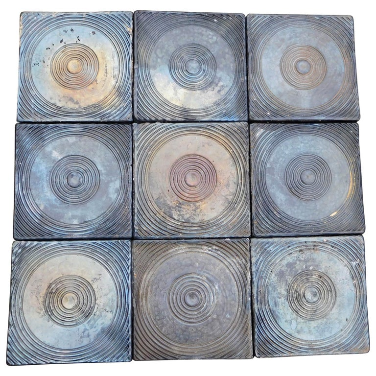 200 Big Céramic Tiles from the 1960s For Sale