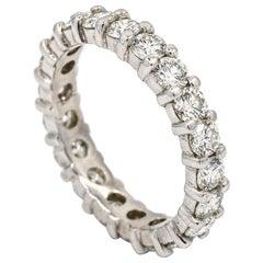 2.00 Carat 14 Karat White Gold Diamond Eternity Band Ring