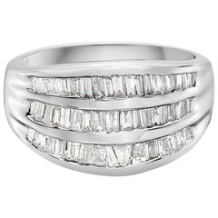 2.00 Carat 3-Row Channel Set Semi Eternity Diamond Band Ring
