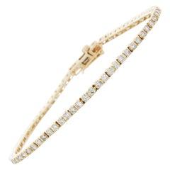 2.00 Carat 4-Prong Round Diamond Tennis Bracelet in 14 Karat Yellow Gold