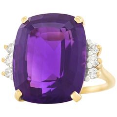 20.0 Carat Amethyst and Diamond-Set Ring