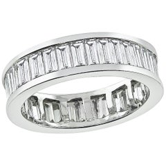 2.00 Carat Baguette Cut Diamond Eternity Wedding Band
