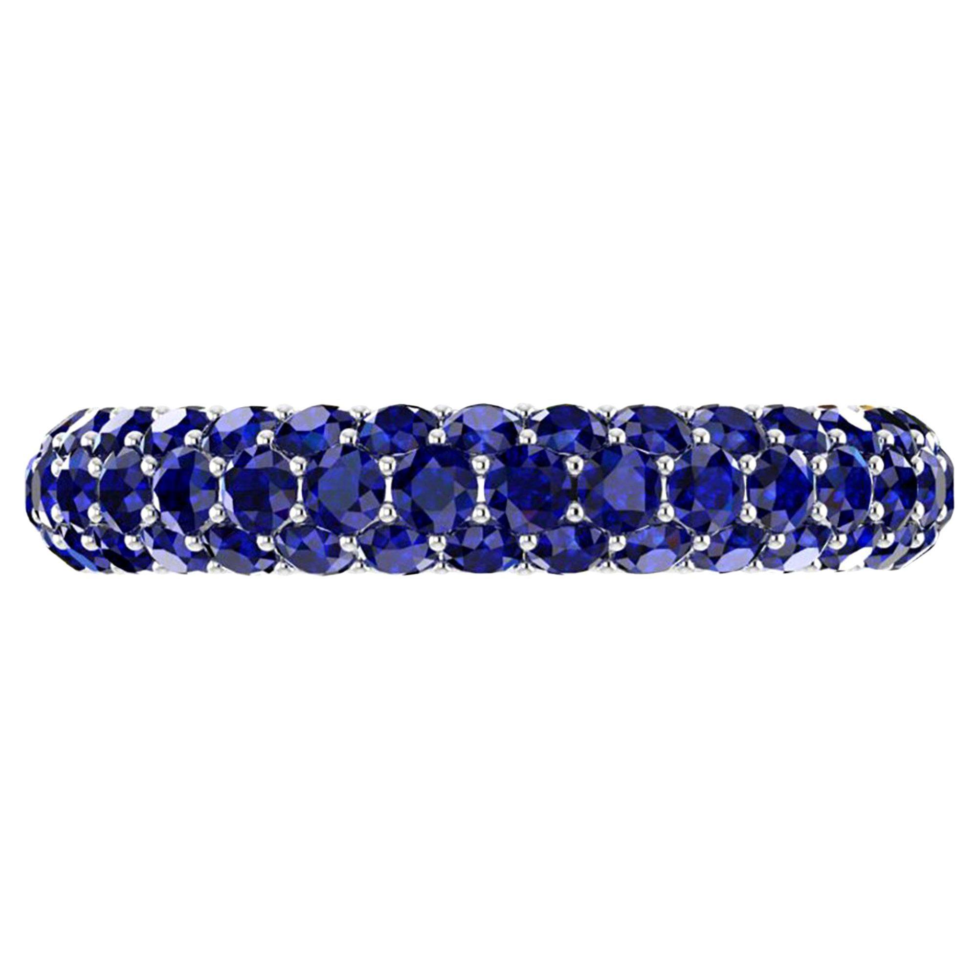 2.00 Carat Blue Sapphire Eternity Ring in 18 Karat White Gold