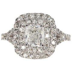 2.00 Carat Cushion Cut Diamond Engagement Ring