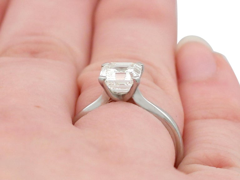 2.00 Carat Diamond and Platinum Solitaire Engagement Ring For Sale 4