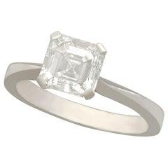 2.00 Carat Diamond and Platinum Solitaire Ring