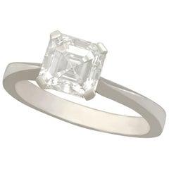 2.00 Carat Diamond and Platinum Solitaire Engagement Ring