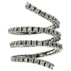 2.00 Carat Diamond Spiral White Gold Ring