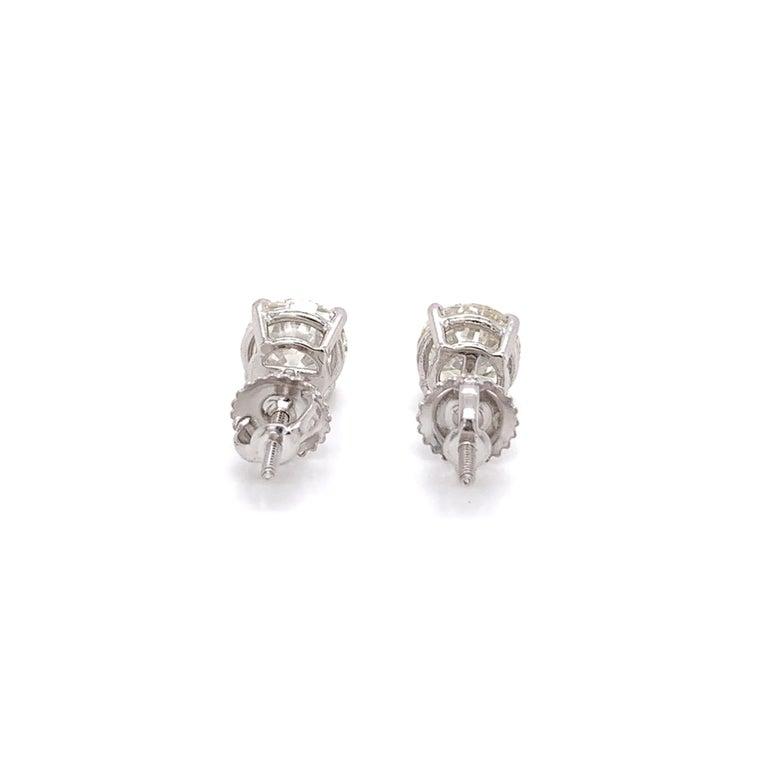 2.00 Carat Diamond Stud Earrings In New Condition In Miami, FL