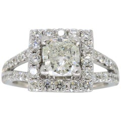2.00 Carat Halo Diamond Engagement Ring