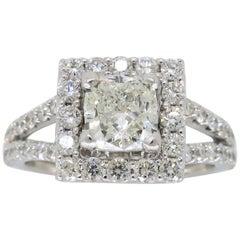 2.00 Carat Halo Diamond Engagement Ring