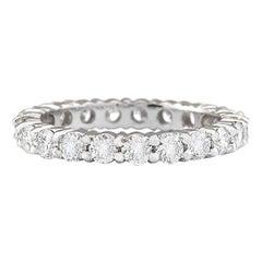 2.00 Carat Natural Diamond 18 Karat White Gold Ring