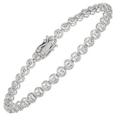 2.00 Carat Natural Diamond Bracelet G SI 14 Karat White Gold