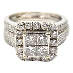 2.00 Carat Princess Cut Diamond 14 Karat White Gold Engagement Ring