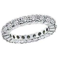 2.00 Carat Round Cut Diamond Eternity Wedding Band