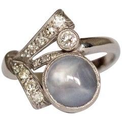 2.00 Carat Sapphire Platinum Ring