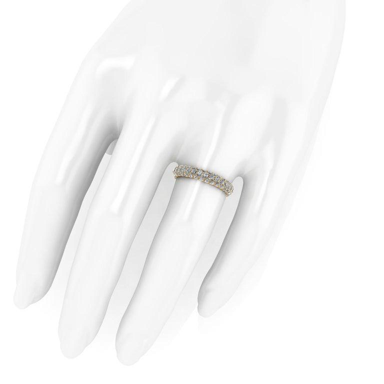 Women's 2.00 Carat White Diamond Pave Ring in 18 Karat Yellow Gold For Sale