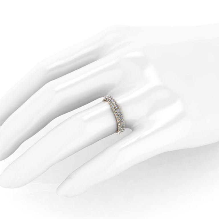 2.00 Carat White Diamond Pave Ring in 18 Karat Yellow Gold For Sale 1