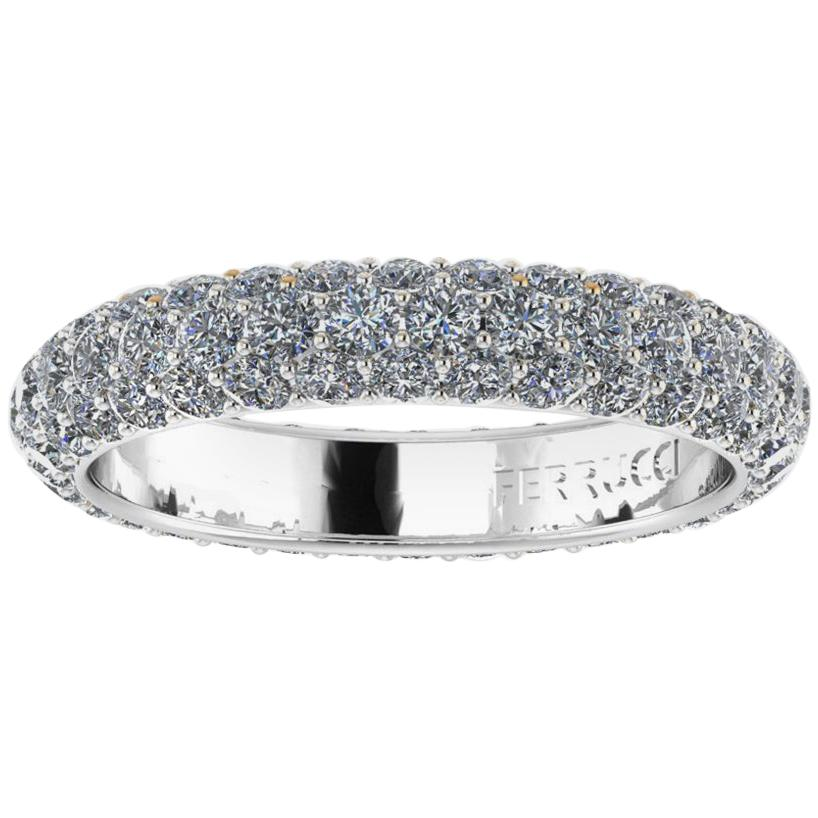 2.00 Carat White Diamond Pavé Ring in Platinum 950