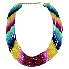Emerald Beaded Necklaces