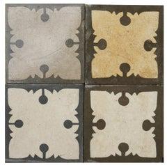 200 Reclaimed Encaustic Floor Tiles with Pattern
