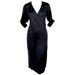 2000 BALENCIAGA le dix by NICOLAS GHESQUIERE jersey wrap dress