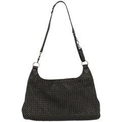 2000 Bottega Veneta Black Leather Shoulder Bag