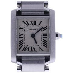 2000 Cartier Tank Francaise 2384 Off-White Dial