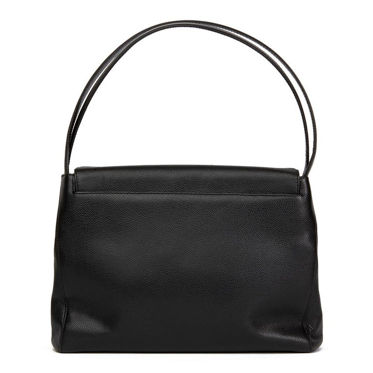 2000 Chanel Black Caviar Leather Classic Shoulder Bag In Excellent Condition For Sale In Bishop's Stortford, Hertfordshire