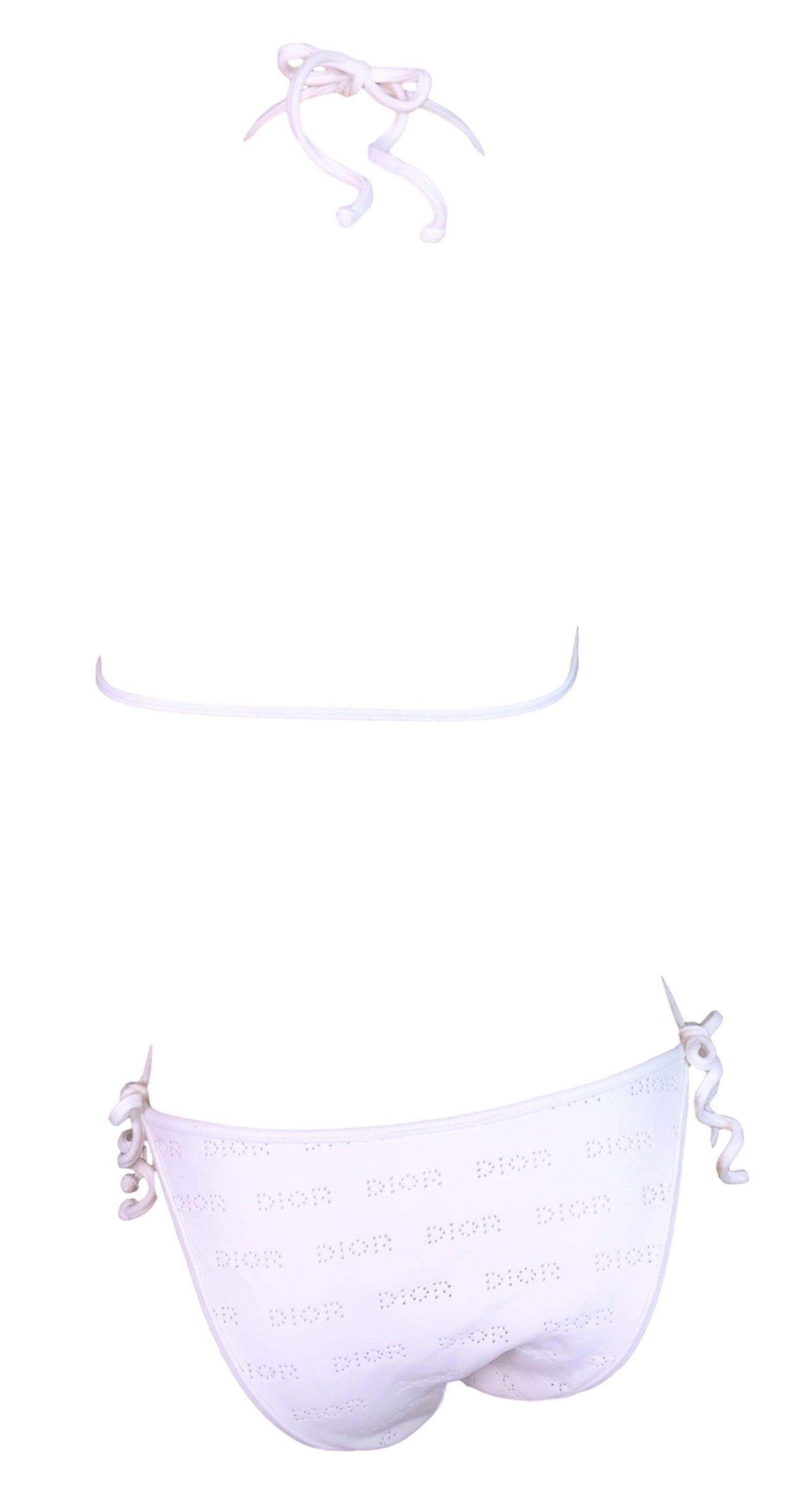 d0f999d1bd 2000 Christian Dior John Galliano White Cut-Out Logo Monogram Bodysuit  Swimsuit For Sale at 1stdibs