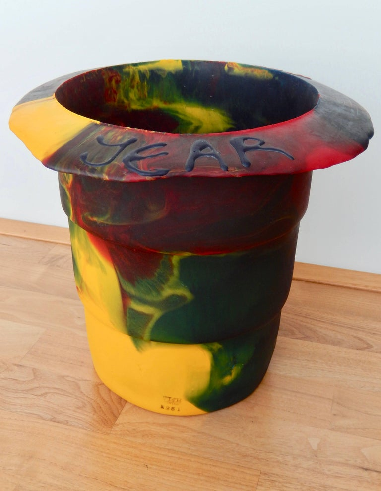Modern 2000 Commemorative Gaetano Pesce Multicolored Resin Bucket For Sale