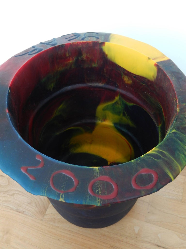 American 2000 Commemorative Gaetano Pesce Multicolored Resin Bucket For Sale
