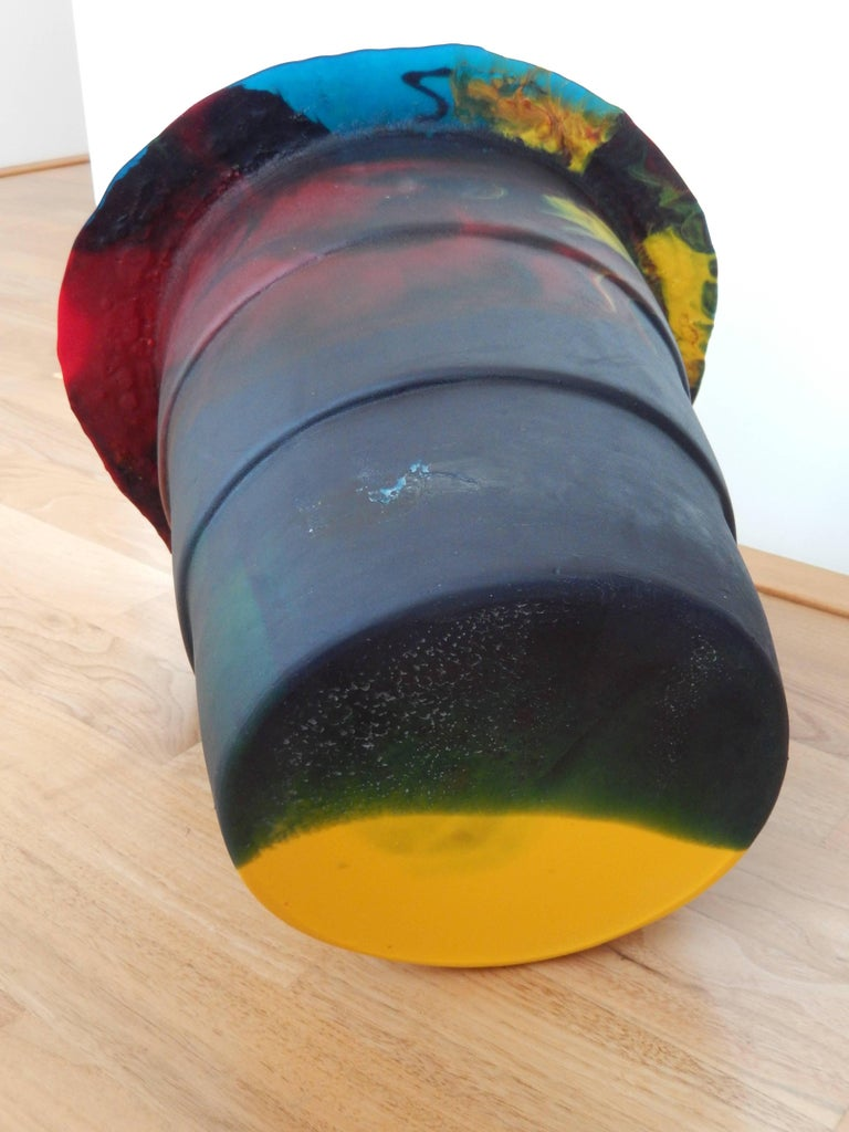 2000 Commemorative Gaetano Pesce Multicolored Resin Bucket For Sale 1