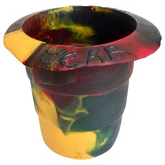 2000 Commemorative Gaetano Pesce Multicolored Resin Bucket