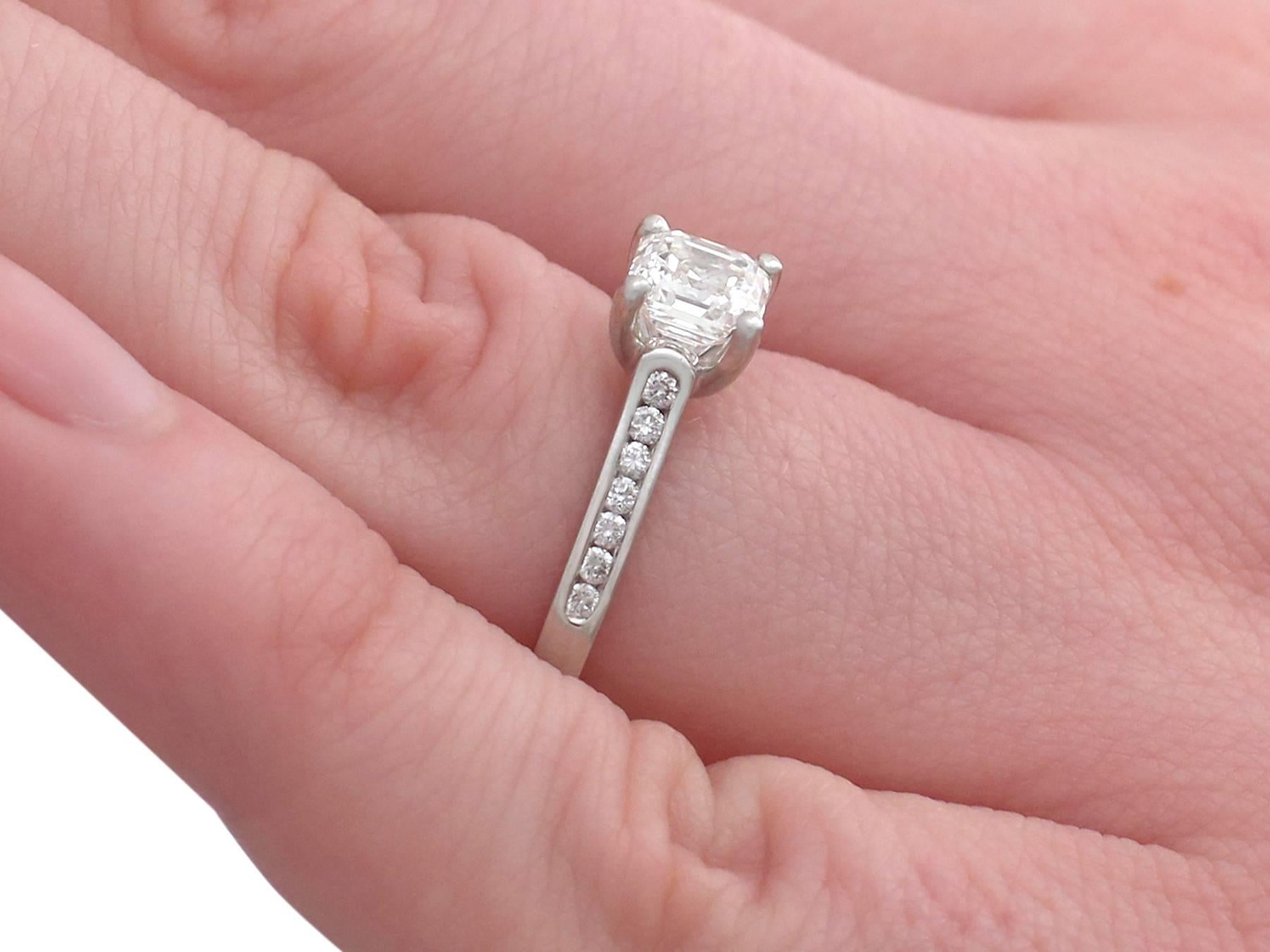2000 Contemporary 1.19 Carat Diamond and Platinum Solitaire Ring For ...