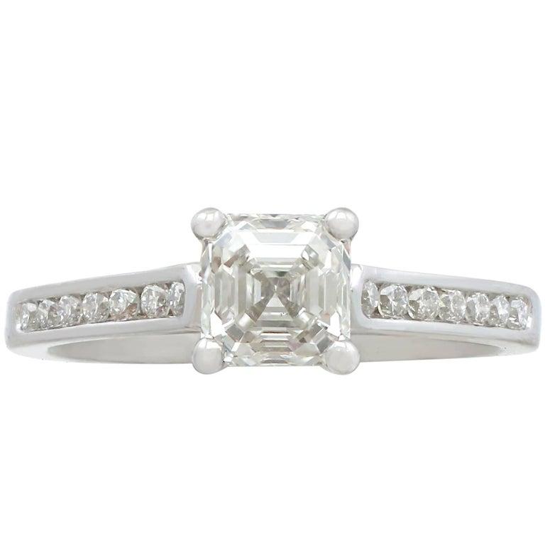 2000 Contemporary 1.19 Carat Diamond and Platinum Solitaire Ring