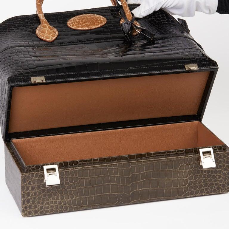 2000 Hermès Shiny Porosus Crocodile Vintage Special Order Macpherson For Sale 6