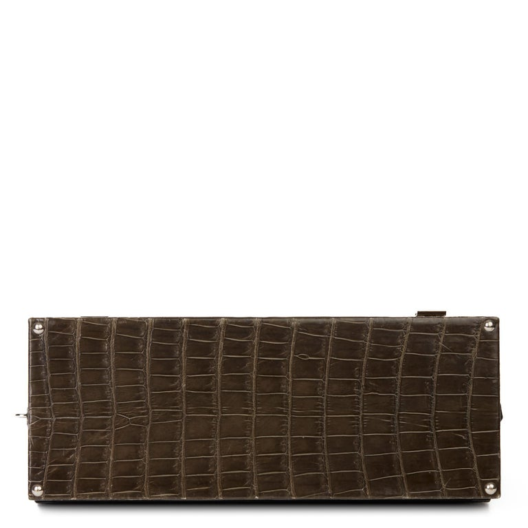 Women's 2000 Hermès Shiny Porosus Crocodile Vintage Special Order Macpherson For Sale