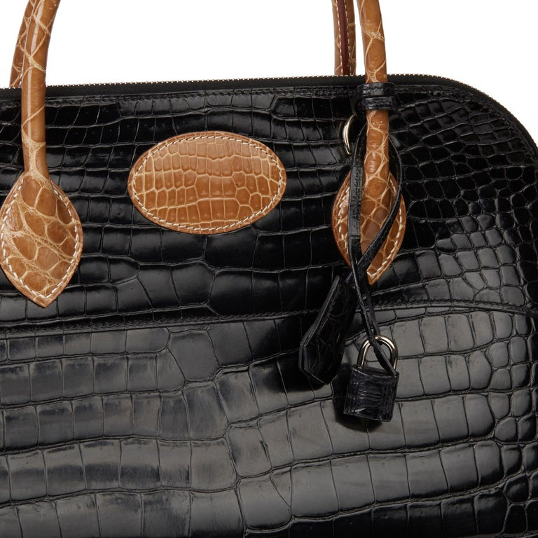 2000 Hermès Shiny Porosus Crocodile Vintage Special Order Macpherson For Sale 2