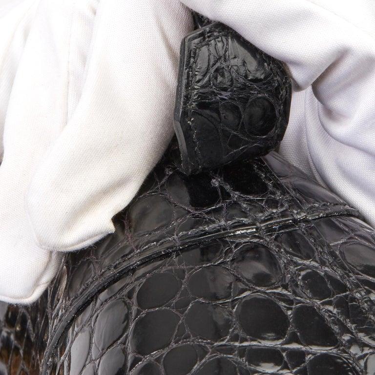 2000 Hermès Shiny Porosus Crocodile Vintage Special Order Macpherson For Sale 4