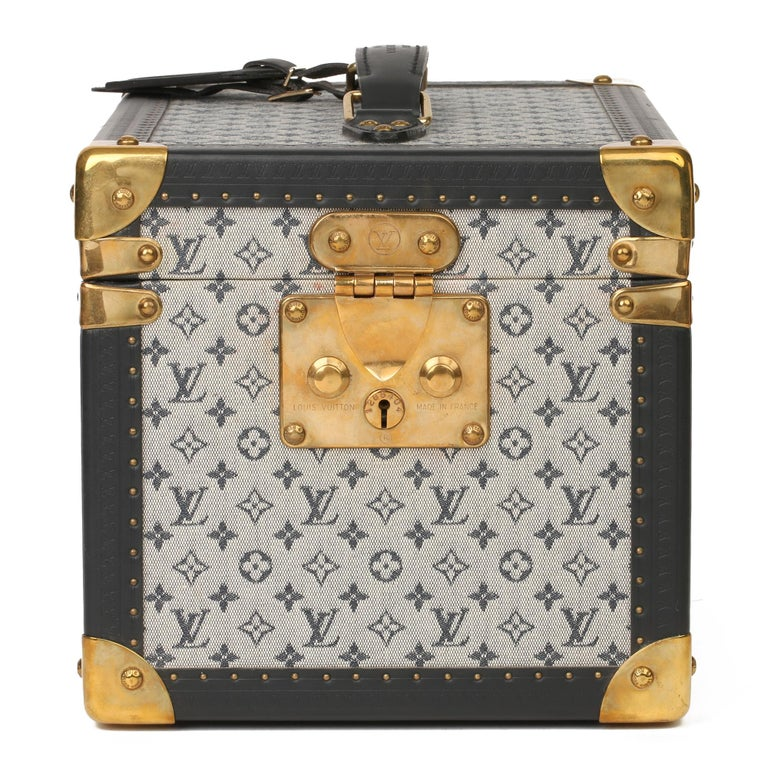 LOUIS VUITTON Blue Mini Monogram Canvas & Navy Calfskin Leather Special Order Boîte à Flacons  Xupes Reference: CB246 Serial Number: AA031269 Age (Circa): 2000 Accompanied By: Louis Vuitton Dust Bag, Interior Mirrored Box, Key Authenticity Details: